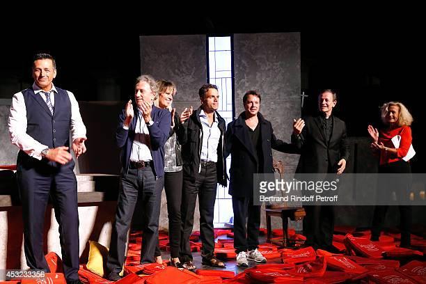 Producer Jean Martinez Michel Drucker Decorator Stephanie Jarre her companion stage director Steve Suissa actors Davy Sardou Francis Huster and...