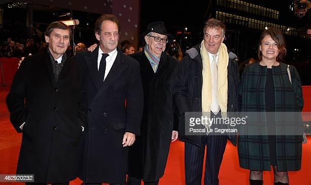 Producer Jean-Pierre Guerin, actor Vincent Lindon, festival director Dieter Kosslick, director Benoit Jacquot and producer Kristina Larsen attend the...