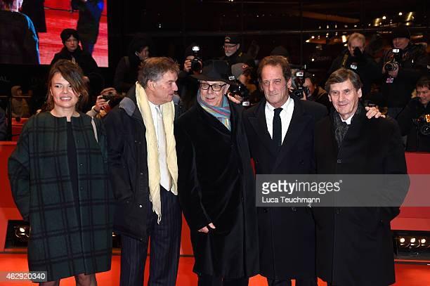 Producer JeanPierre Guerin actor Vincent Lindon festival director Dieter Kosslick director Benoit Jacquot and producer Kristina Larsen attend the...