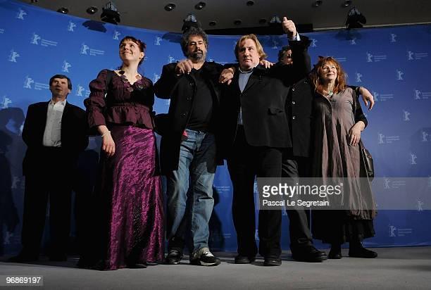 Producer JeanPierre Guerin actress Miss Ming director Gustave de Kervern actor Gerard Depardieu director Benoit Delepine and Yolande Moreau attend...