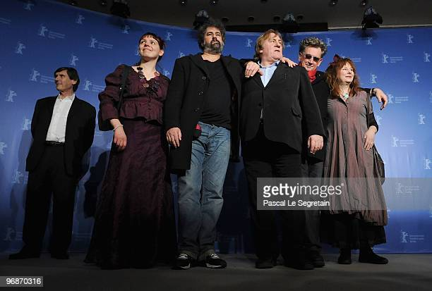 Producer JeanPierre Guerin actress Miss Ming director Gustave de Kervern actor Gerard Depardieu director Benoit Delepine and actress Yolande Moreau...