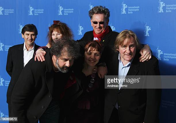 Producer JeanPierre Guerin actress Yolande Moreau and director Benoit Delepine director Gustave de Kervern actress Miss Ming and actor Gerard...
