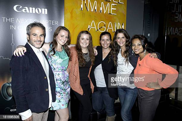 Producer Jeff Abramson Lauren Asher Alison Belter Keleigh Thomas Morgan Elizabeth Shaffer and Katherina Jawaharlal attend Canon Celebrates the Art of...