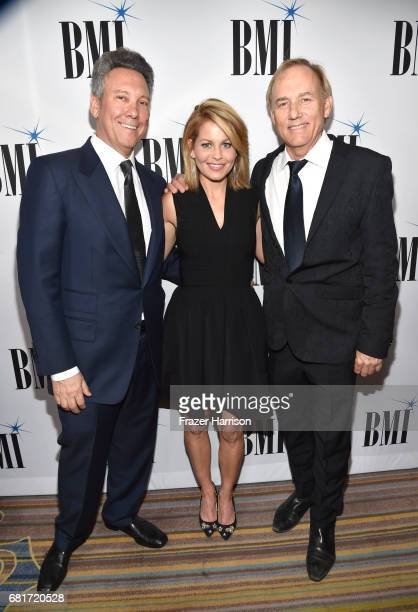 Producer Jeff Franklin actor Candace CameronBure and composer Bennett Salvay at the 2017 Broadcast Music Inc Film TV Visual Media Awards at the...