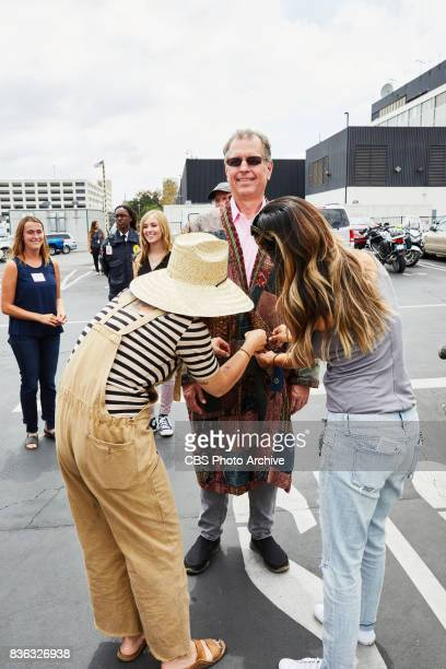 Producer Jeff Kopp assists the wardrobe department during 'The Late Late Show with James Corden' Tuesday August 15 2017 On The CBS Television Network