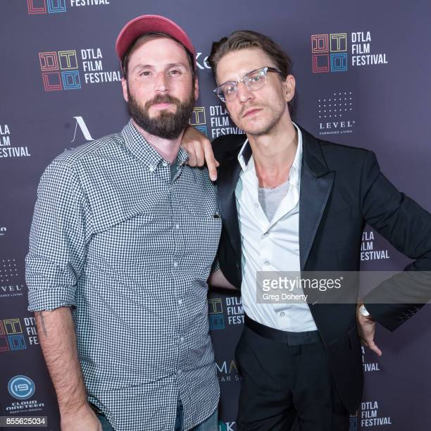 Producer Jeff Steiger and Director Kevin Phillips arrive for the DTLA Film Festival Premiere Of The Orchard's 'Super Dark Times' at Regal 14 at LA...