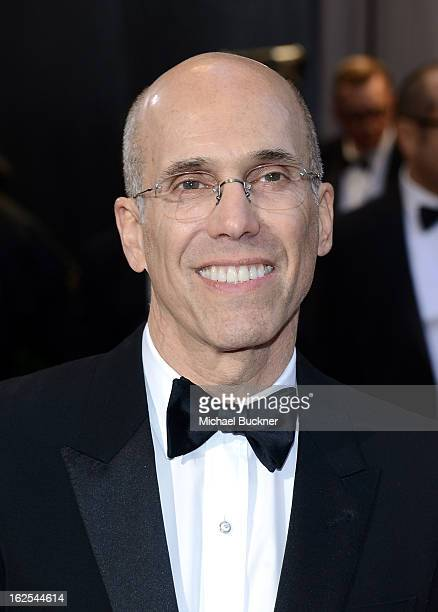 Producer Jeffrey Katzenberg arrives at the Oscars at Hollywood Highland Center on February 24 2013 in Hollywood California