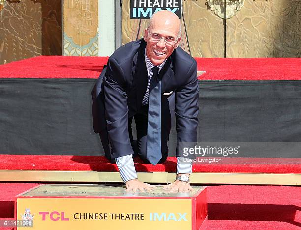 Producer Jeffrey Katzenberg attends his Hand and Footprint Ceremony at TCL Chinese Theatre on September 29 2016 in Hollywood California