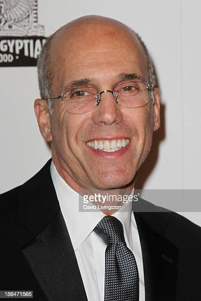 Producer Jeffrey Katzenberg attends the 26th American Cinematheque Award Gala honoring Ben Stiller at The Beverly Hilton Hotel on November 15 2012 in...
