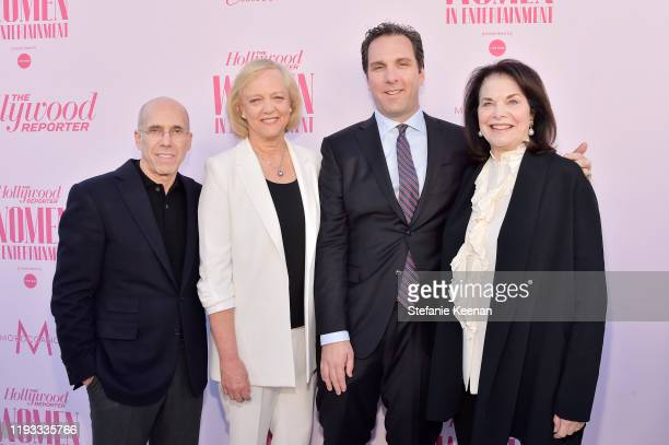 Producer Jeffrey Katzenberg CEO at Quibi Meg Whitman Editorial Director of The Hollywood Reporter Matthew Belloni and CEO of Sherry Lansing...