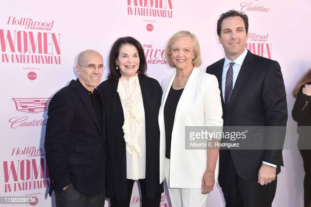 Producer Jeffrey Katzenberg CEO at Sherry Lansing Foundation Sherry Lansing CEO at Quibi Meg Whitman and Editorial Director at The Hollywood Reporter...
