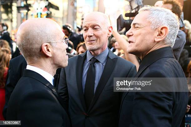 Producer Jeffrey Katzenberg Oscar's Telecast Executive Producers Neil Meron and Craig Zadan arrive at the Oscars held at Hollywood Highland Center on...