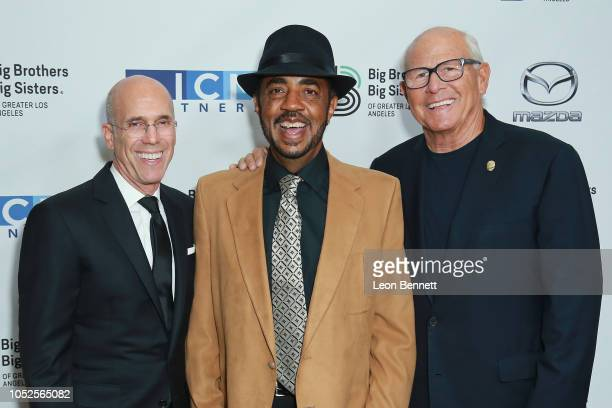 Producer Jeffrey Katzenberg Terry Williams and Steve Soboroff attends Big Brothers Big Sisters Of Greater Los Angeles Big Bash Gala arrivals at The...