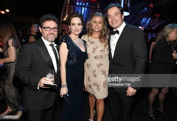 Producer Jeffrey Richmond, actress Tina Fey, producer Nancy Juvonen and TV host Jimmy Fallon attend NBCUniversal/Focus Features Golden Globes Viewing...