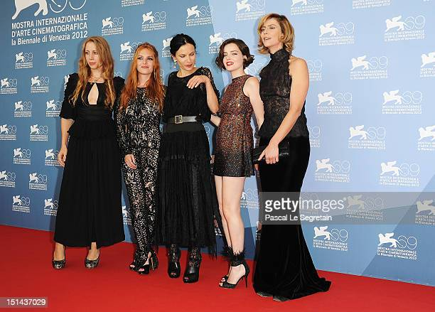 Producer Jen Gatien actress Josephine De La Baume director Xan Cassavetes and actresses Roxanne Mesquida and Anna Mouglalis attend the Kiss of the...