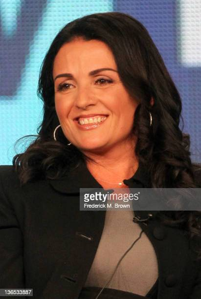 Producer Jenni Pulos speaks onstage during the 'Interior Therapy With Jeff Lewis' panel during the Bravo NBCUniversal portion of the 2012 Winter TCA...
