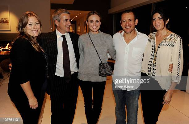 Producer Jennifer Kelly actor Dermot Mulroney actress Diane Kruger actor Dany Boon and producer Nathalie Marciano pose at a reception for IFC Films'...