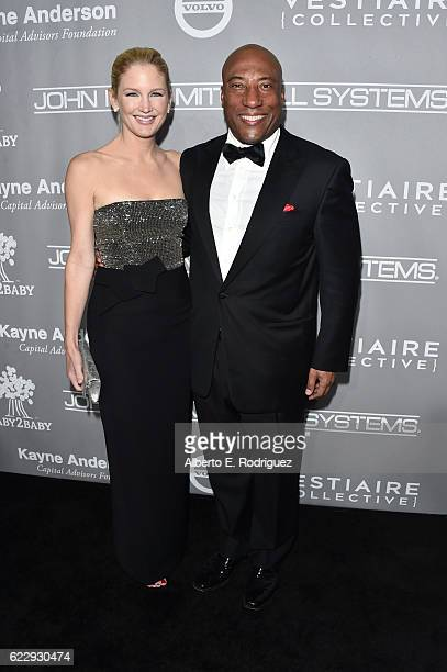 Producer Jennifer Lucas and comedian Byron Allen attend the 5th Annual Baby2Baby Gala at 3LABS on November 12 2016 in Culver City California