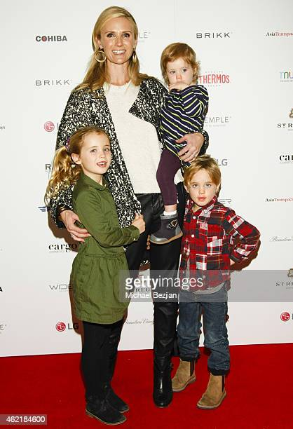 Producer Jennifer Newsom and daughters Montana Newsom Brooklyn Newsom and son Hunter Newsom attend St Regis Rand Luxury Host Film Reception For The...