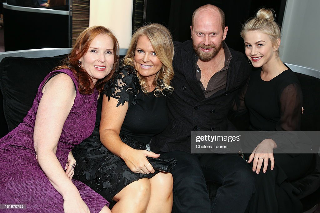 Producer Jennifer Todd, producer Suzanne Todd, ESCADA fashion director Daniel Wingate and actress/dancer Julianne Hough attend ESCADA and W Magazine's celebration of Cool Earth with hosts Daniel Wingate, Suzanne Todd and Jennifer Todd at Escada Boutique on September 26, 2013 in Beverly Hills, California.