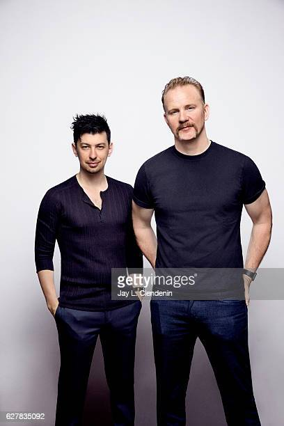 Producer Jeremy Chilnick and director Morgan Spurlock from the film Rats pose for a portraits at the Toronto International Film Festival for Los...