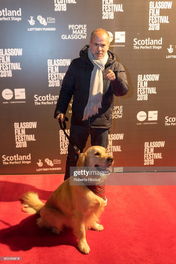 Producer Jeremy Dawson and Visit Scotland ambassador George attend the UK premiere of 'Isle of Dogs' and opening gala of the 14th Glasgow Film Festival at Glasgow Film Theatre on February 21, 2018 in Glasgow, Scotland.