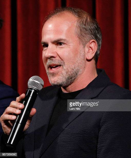Producer Jeremy Dawson on stage during The Academy of Motion Picture Arts Sciences Official Academy Screening of Isle of Dogs at the MOMA Celeste...