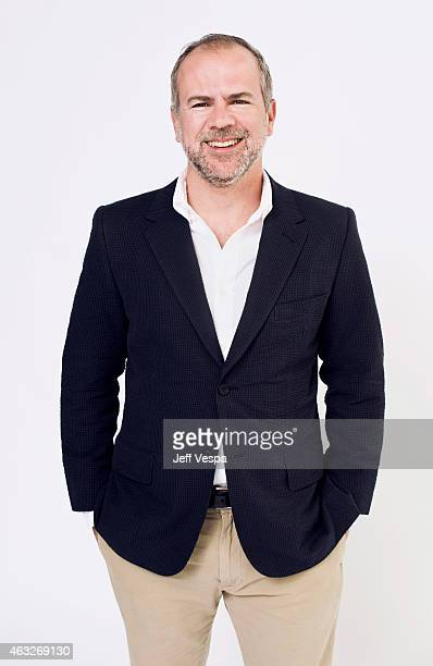 Producer Jeremy Dawson poses for a portraits at the 87th Academy Awards Nominee Luncheon at the Beverly Hilton Hotel on February 2 2015 in Beverly...