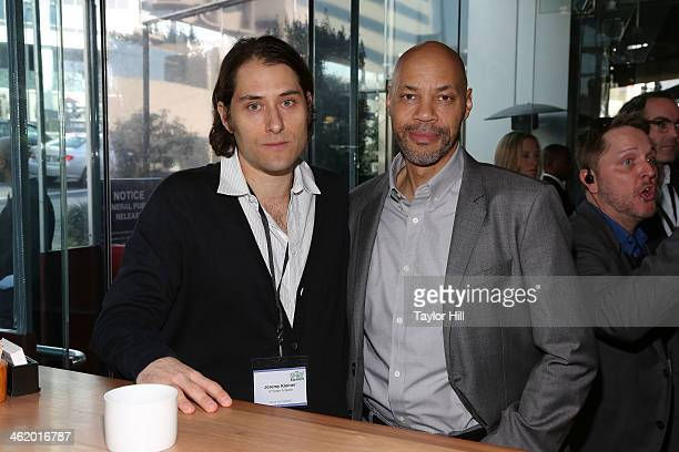 Producer Jeremy Kleiner and writer John Ridley attend the 2014 Film Independent Filmmaker Grant And Spirit Awards Nominees Brunch at BOA Steakhouse...