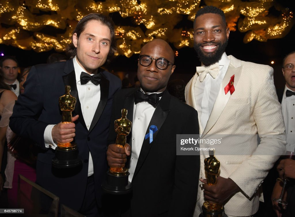 Producer Jeremy Kleiner, director Barry Jenkins and screenwriter Tarell Alvin McCraney attend the 89th Annual Academy Awards Governors Ball at Hollywood & Highland Center on February 26, 2017 in Hollywood, California.