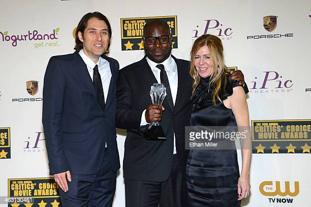Producer Jeremy Kleiner director Steve McQueen and producer Dede Gardner winners of the Best Picture Award for 12 Years A Slave pose in the press...