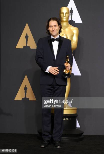 Producer Jeremy Kleiner poses in the press room at the 89th annual Academy Awards at Hollywood Highland Center on February 26 2017 in Hollywood...