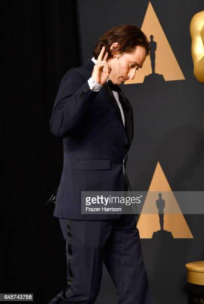 Producer Jeremy Kleiner winner of the award for Best Picture for 'Moonlight' poses in the press room during the 89th Annual Academy Awards at...