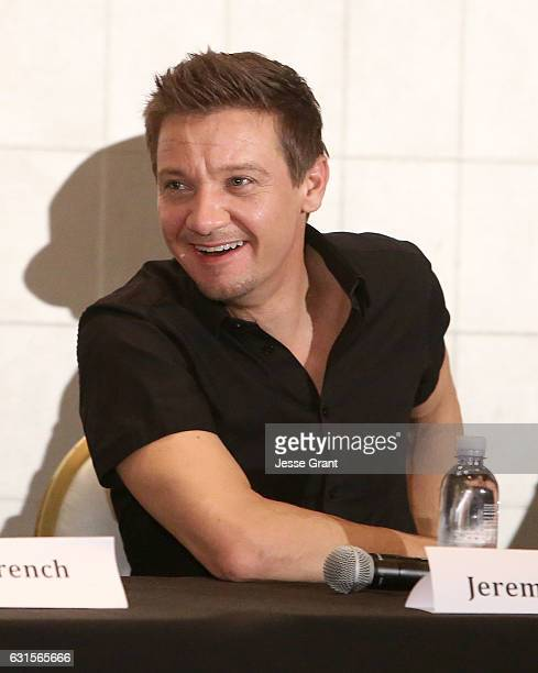 Producer Jeremy Renner attends a press conference for 'The Founder' at The London Hotel on January 12 2017 in West Hollywood California