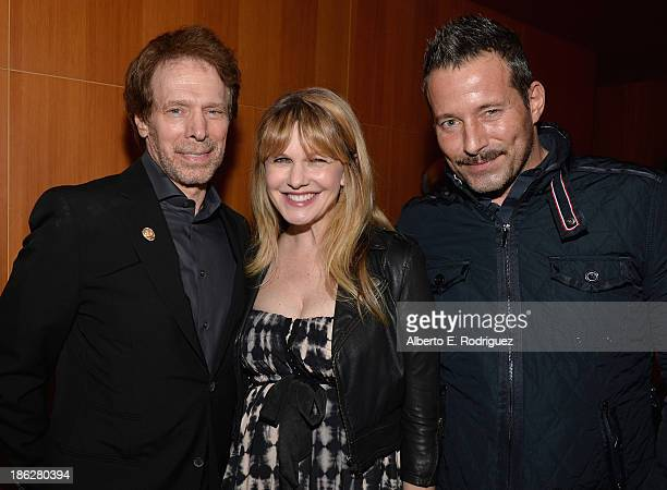 Producer Jerry Bruckheimer actress Kathryn Morris and actor Johnny Messner attend the launch party for legendary producer Jerry Bruckheimer's book...