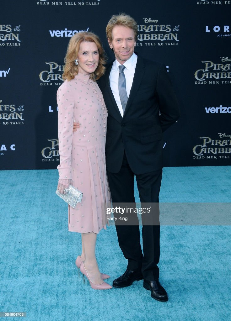 Producer Jerry Bruckheimer (R) and wife Linda Bruckheimer (L) attend the premiere of Disney's 'Pirates Of The Caribbean: Dead Men Tell No Tales' at Dolby Theatre on May 18, 2017 in Hollywood, California.