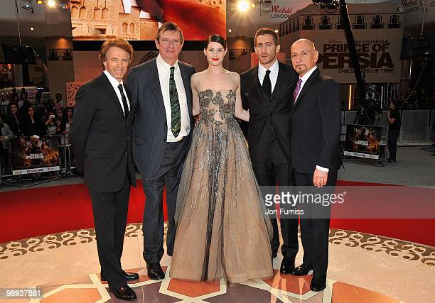 Producer Jerry Bruckheimer, director Mike Newell and actors Gemma Arterton, Jake Gyllenhaal and Sir Ben Kingsley attend the 'Prince Of Persia: The...