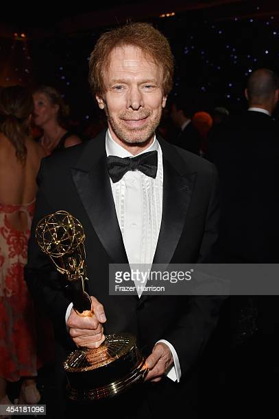 Producer Jerry Bruckheimer winner of the Outstanding Reality Competition Program for The Amazing Race attends the 66th Annual Primetime Emmy Awards...