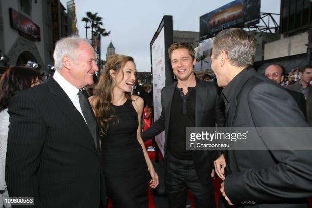 Producer Jerry Weintraub Angelina Jolie Brad Pitt and George Clooney