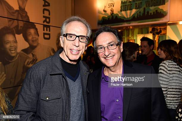 Producer Jerry Zucker and host Ira Flatow attend the after party at the Film Independent Sloan Summit at the GRAMMY Museum at LA Live on November 15...