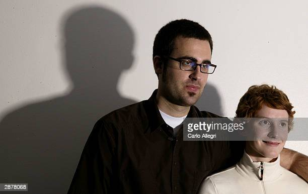 """Producer Jerusha Hess and director Jared Hess of the film """"Napoleon Dynamite"""" pose for portraits during the 2004 Sundance Film Festival January 17,..."""
