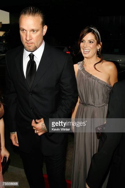 Producer Jesse James and his wife actress Sandra Bullock arrive to the TriStar premiere of Premonition at the ArcLight Hollywood Cinerama Dome March...