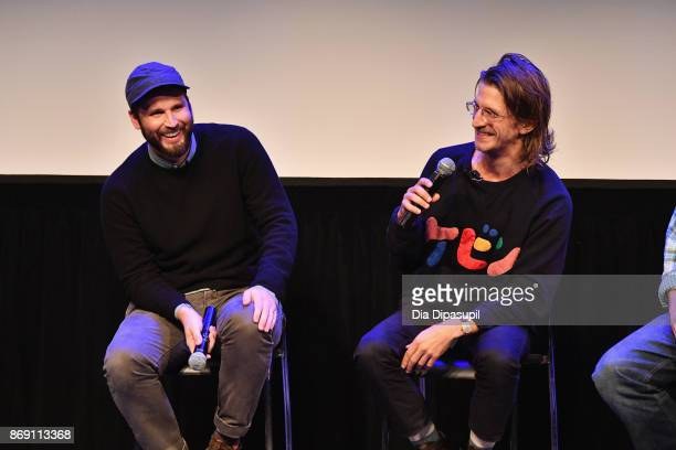 Producer Jett Steiger and director Kevin Phillips onstage at 'Super Dark Times' QA during 20th Anniversary SCAD Savannah Film Festival on November 1...