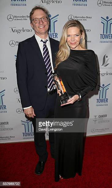 Producer Jim Burke and actress/producer Christina Simpkins attend attends Tower Cancer Research Foundation's Tower of Hope Gala at The Beverly Hilton...