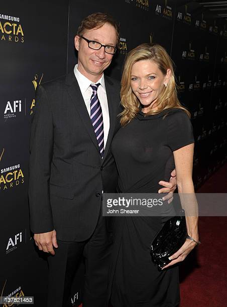 Producer Jim Burke and Christina Simpkins arrive at the Australian Academy Of Cinema And Television Arts International Awards Ceremony at Soho House...