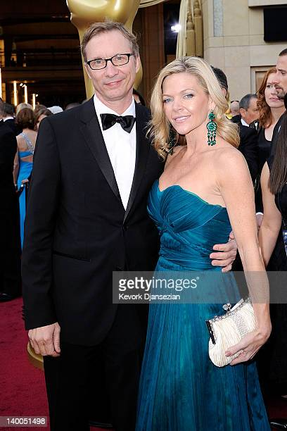 Producer Jim Burke and guest arrive at the 84th Annual Academy Awards held at the Hollywood Highland Center on February 26 2012 in Hollywood...
