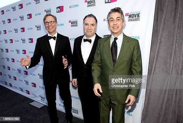 Producer Jim Burke producer Jim Taylor and director Alexander Payne arrive at the 17th Annual Critics' Choice Movie Awards held at The Hollywood...