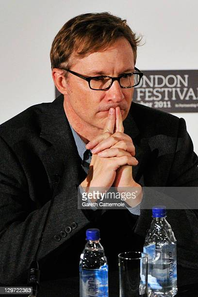 Producer Jim Burke speaks at The Descendants press conference during the 55th BFI London Film Festival at Odeon West End on October 20 2011 in London...