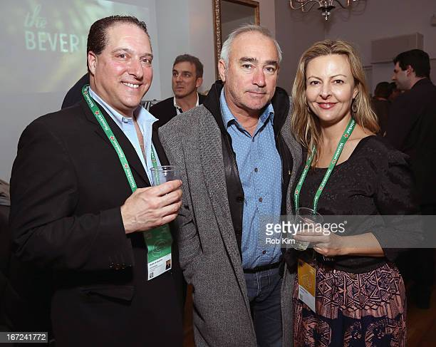 Producer Jim Jermanok and producer Sylvia Wilczynski pose with guest at the Producers Reception during the 2013 Tribeca Film Festival April 22 2013...