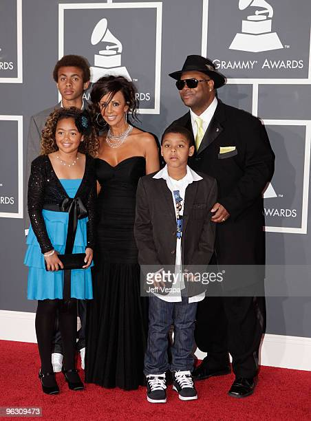 Producer Jimmy Jam and family arrive at the 52nd Annual GRAMMY Awards held at Staples Center on January 31 2010 in Los Angeles California